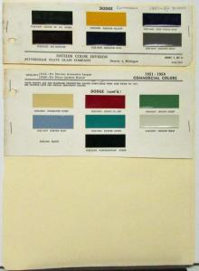 1951 1952 1953 1954 Dodge Color Paint Chips Ditzler Original