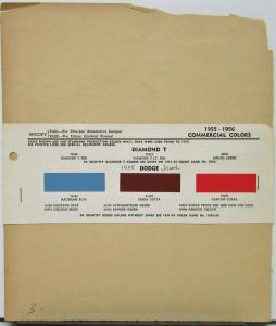 1955 Dodge Truck Commercial Colors Paint Chips Original
