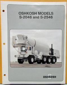 1988 OSHKOSH Truck Model S 2046 2546 Specification Sheet