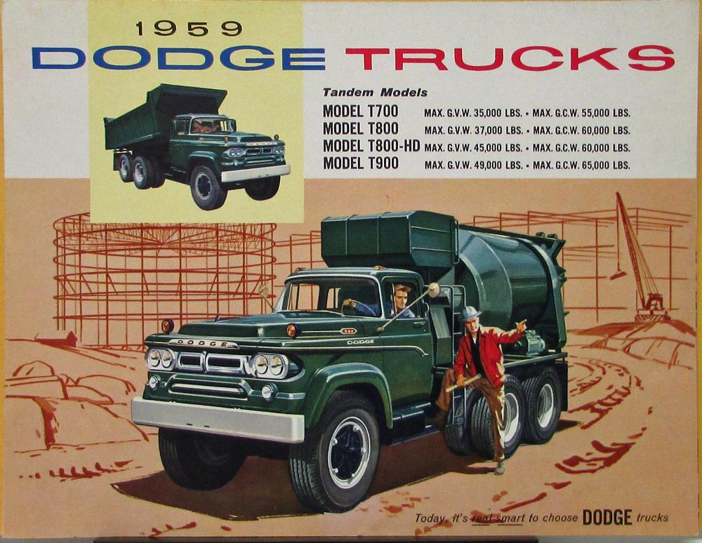 1958 Dodge Power Giants Truck Brochure Models 800//900
