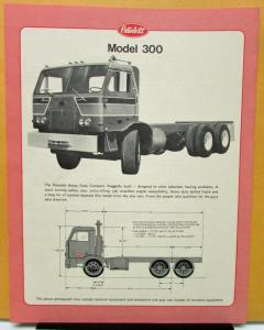 1974 Peterbilt Model 300 Data Specification Sheet