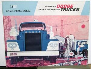1960 Dodge Special Purpose Truck Tank Dump Fire Eng Mixer Garbage Sale Brochure