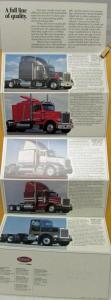 1987 Peterbilt Full Line Sales Brochure Folder