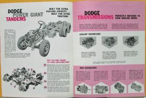 1961 Dodge High Ton Gas Trucks 4x2 C800 900 1000 6x4 CT700 800 900 Sale Brochure