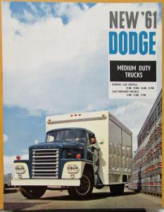 1961 Dodge SWISS Market Truck Med Duty D400 to 700 C500 to 700 Sales Brochure