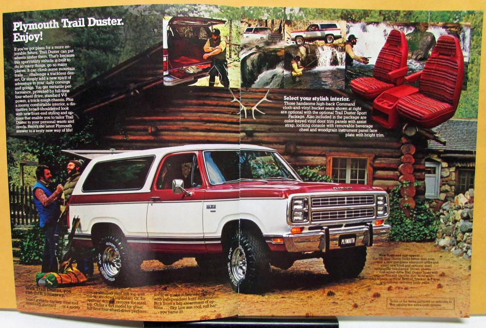 1979 Plymouth Trail Duster Truck Sales Brochure Book