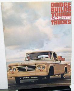 1963 Dodge Truck Pickup Stake Tradesman Town Wagon Panel Sales Brochure Original