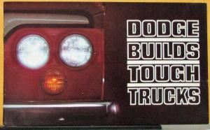 1963 Dodge Full Line Pickup Gas Diesel Motor Home 4WD Trucks Sales Brochure