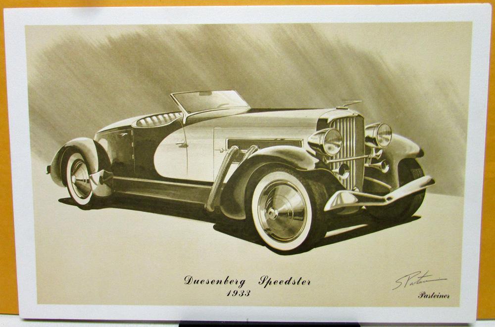 Steve Pasteiner Vintage Auto Print Set Of 8 V16 Cadillac 1933 ...