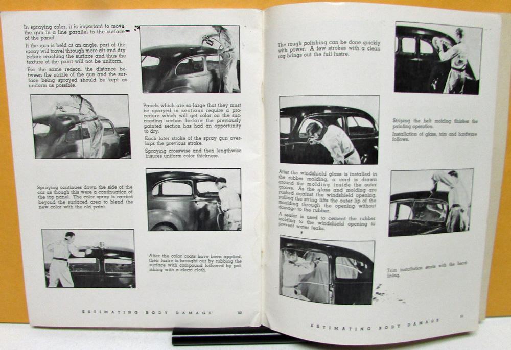 1949 Body Damage Repair & Estimating Procedures Manual