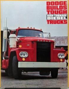 1963 Dodge Diesel Truck Model NC900 NCT800 NCT 900 High Tonnage HD Sale Brochure