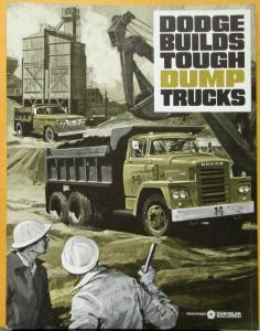 1964 Dodge Dump Trucks D & C & CT Medium & Heavy Duty Models Sales Brochure