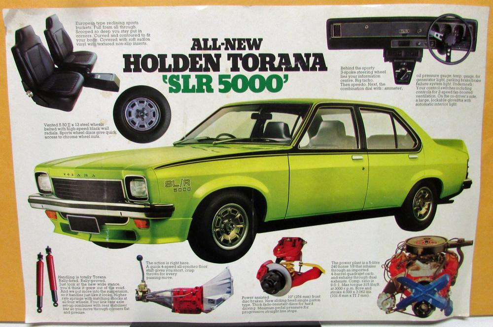 74 Holden Torana SLR 5000 Dealer Sales Sheet Large Foreign