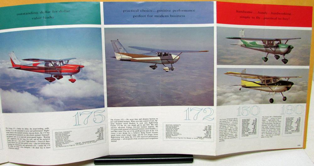Vintage Cessna Airplane Brochure 310d 210 Skylane Skylark