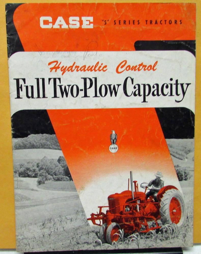 Vintage Case Tractors Dealer Sales Brochure S Series Farm Tractors ...