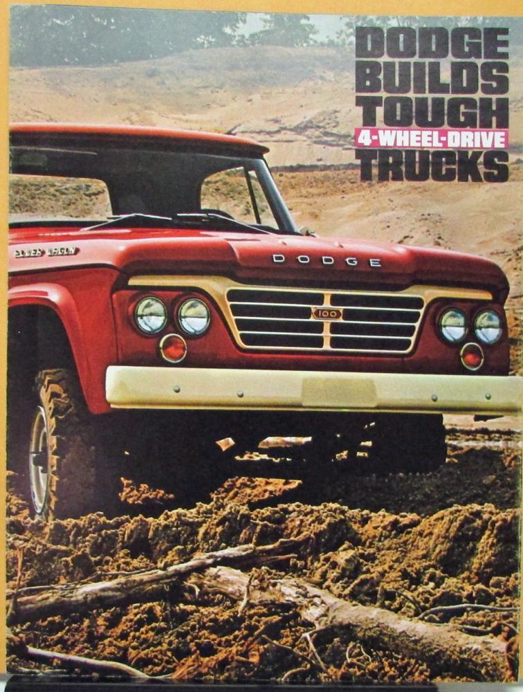 Dodge 4WD Trucks W Models & WM300 Military Type Sales Folder Original