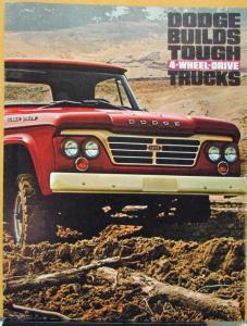 1964 Dodge 4WD Trucks W Models & WM300 Military Type Sales Folder Original