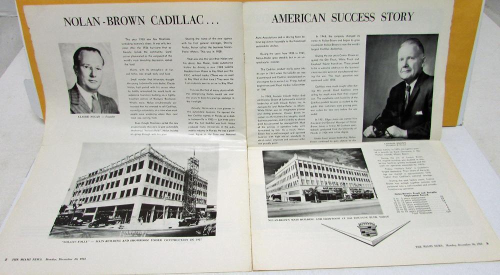 NolanBrown Cadillac Dealer Th Anniversary Miami News Special Insert - Cadillac dealer miami