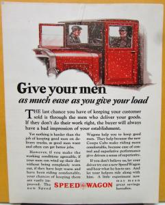 1927 REO Speed Wagon Truck Sales Brochure Give Your Men