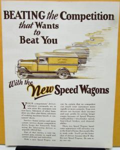1927 REO Speed Wagon Truck Sales Brochure Laundryman Competition