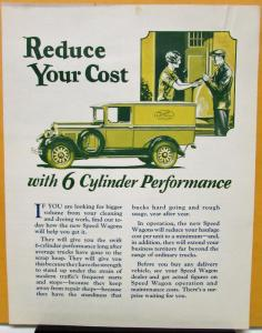 1927 REO Speed Wagon Cleaning & Dyeing Truck Sales Brochure