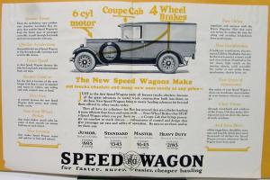 1927 REO Speed Wagon Plumbing & Heating Truck Sales Brochure