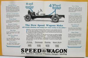 1927 REO Speed Wagon Truck Sales Brochure More Miles