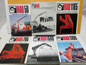 Vintage HIAB-FOCO Hydraulic Loader Commercial Truck Pic-Up Arm 12 Brochures