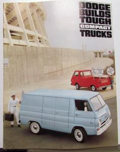 1966 1967 Dodge Truck Compact A100 Van Pickup Original Sales Brochure Revised