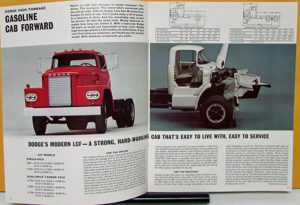 1966 1967 Dodge Truck High Tonnage Gasoline Models D C Ct Sales. 1966 1967 Dodge Truck High Tonnage Gasoline Models D C Ct Sales Brochure Orig. Dodge. Dodge Lcf Series Trucks Wiring At Scoala.co