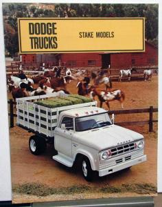 1968 Dodge Truck Stake Models D100 to 500 W200 & 300 Sales Brochure Original
