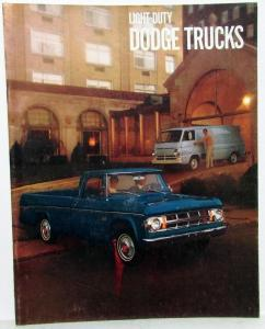 1969 Dodge Light Duty Trucks Full Line Sales Brochure Pickup Van Power Wagons