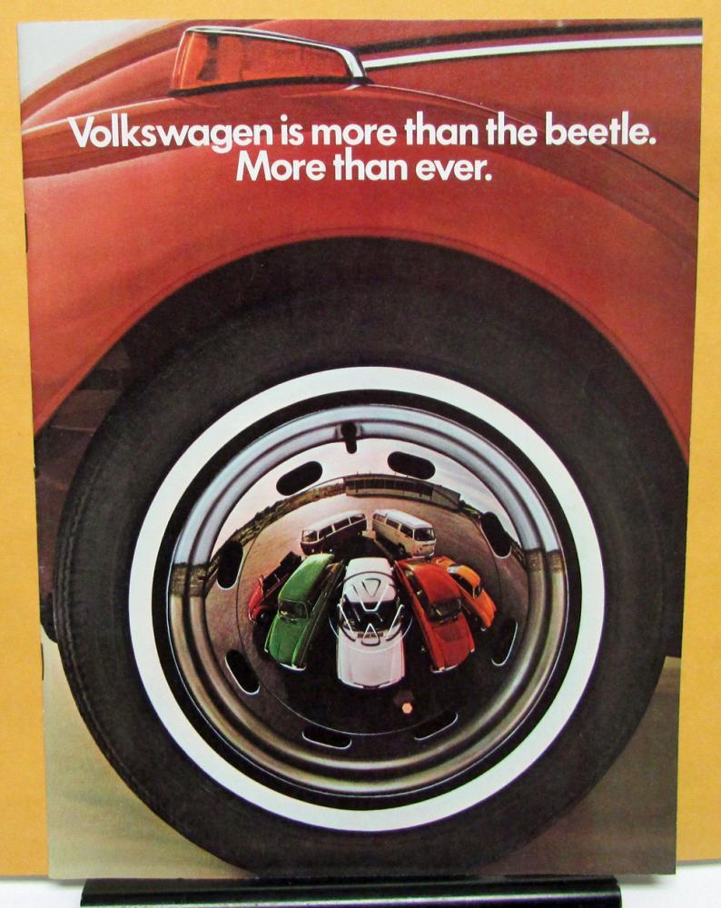 1971 Volkswagen Dealer Sales Brochure Vw Beetle 411