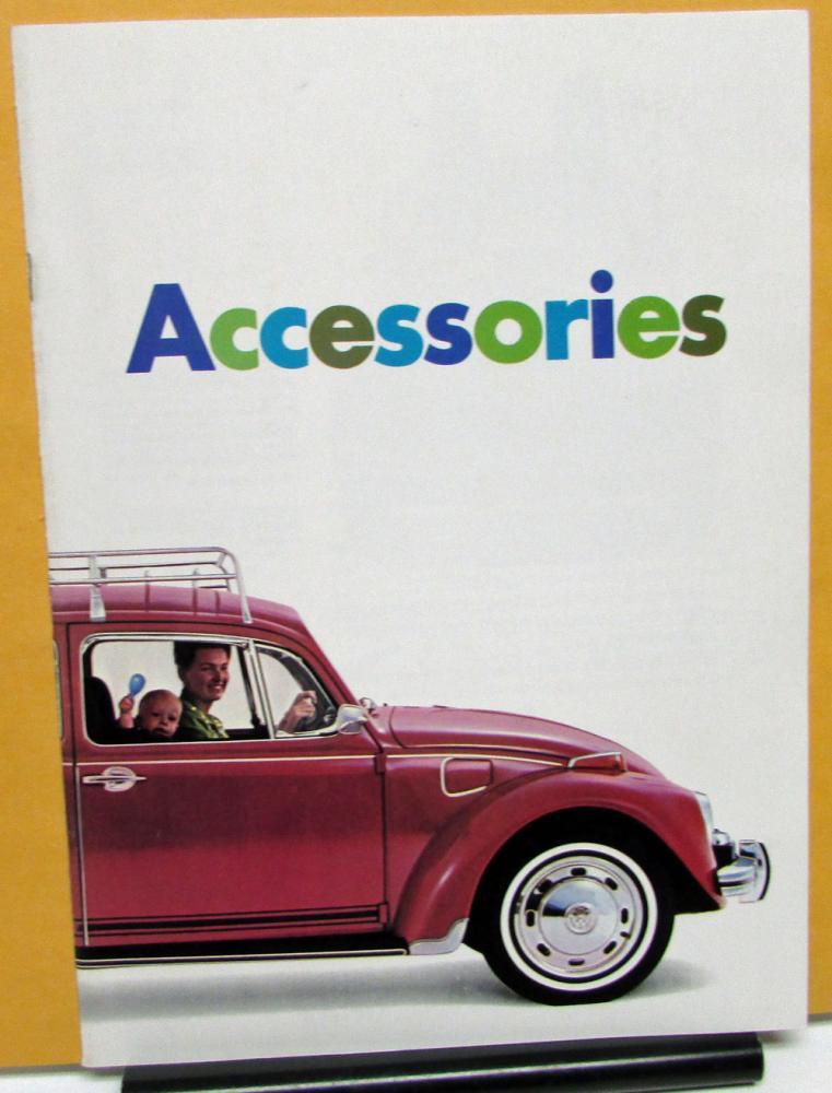 1969 Volkswagen Dealer Sales Brochure Accessories Options