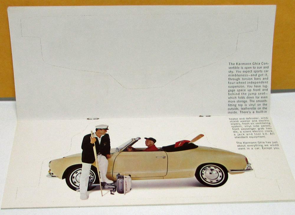 1966 volkswagen dealer sales brochure beetle karmann ghia bus rh autopaper com 1969 Karmann Ghia Karmann Ghia Parts