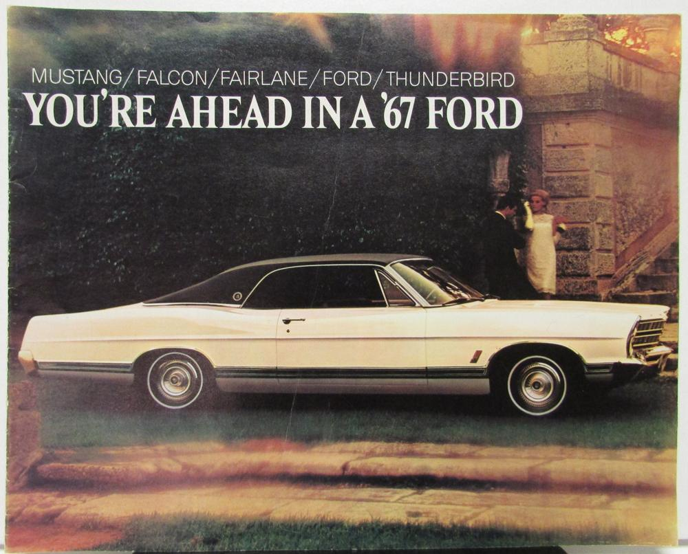 1967 Ford Full Line Sales Brochure Mustang Falcon Fairlane Size 1964 Thunderbird