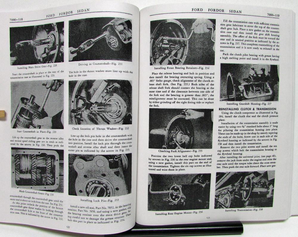 1941 1942 1946 1947 1948 Ford Car Truck 6 Cyl V8 Flathead Shop Manual Parts List