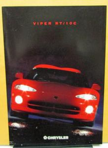 1997 Chrysler Viper RT/10C Foreign Dealer Sales Brochure German Text Market Rare