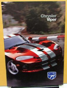 1998 Chrysler Viper GTS Foreign Dealer Sales Brochure English Text European Rare