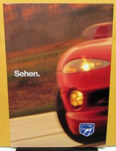 1998 Chrysler Viper GTS Foreign Dealer Sales Brochure German Text Large Poster