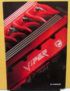 1993 Chrysler Viper Foreign Dealer Sales Brochure English Text V10 European