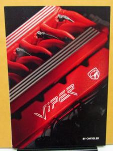 1994 Chrysler Viper Foreign Dealer Sales Brochure French Text V10 Rare