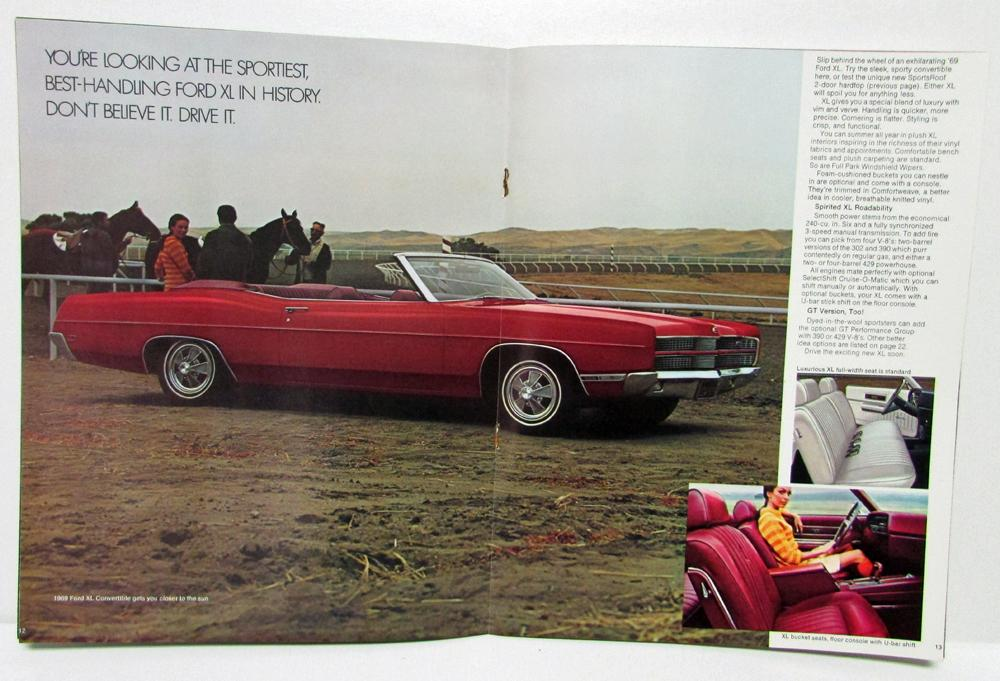 1969 Ford Sales Brochure LTD XL Galaxie 500 Country Sedan Custom 500