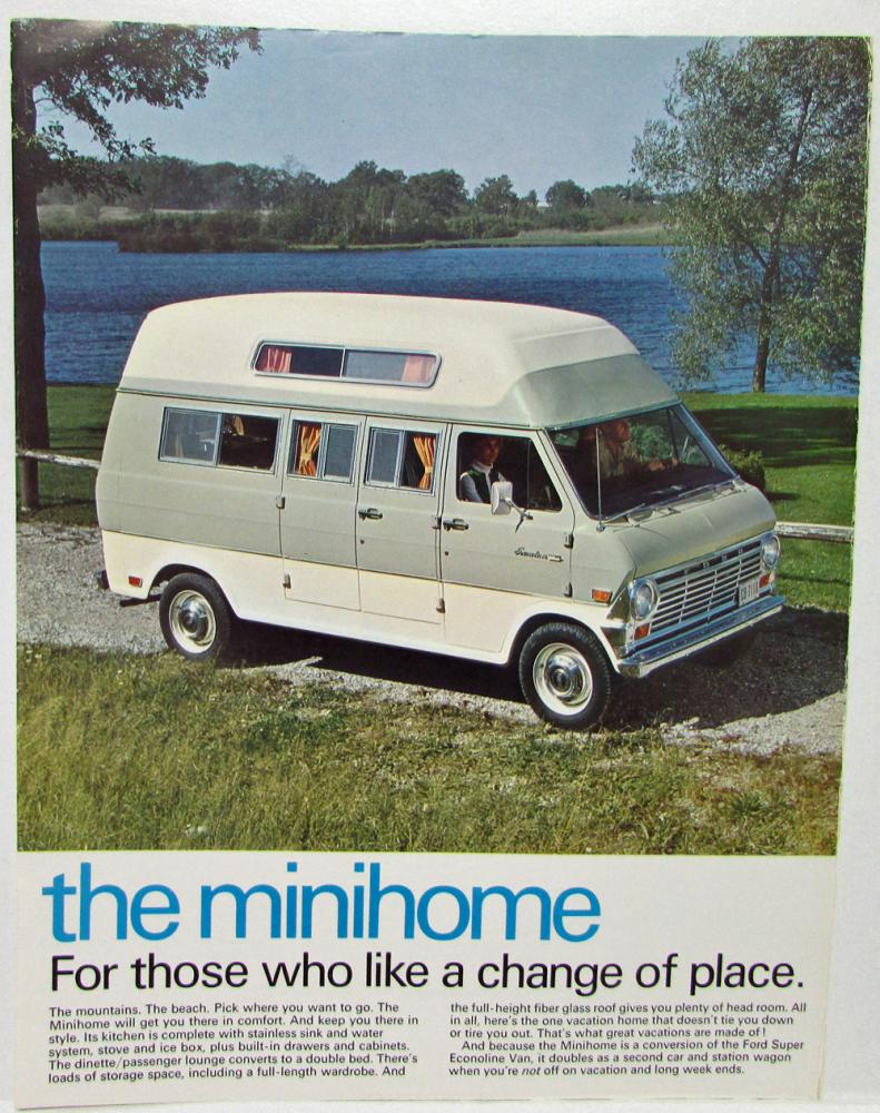 1969 Ford For Recreation Sales Booklet Cars Trucks Mustang Pickup Econoline Van Ranchero