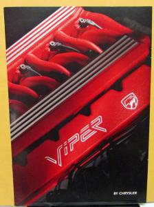 1994 Chrysler International Viper Foreign Dealer Sales Brochure German Text V10