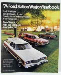 1974 Ford Station Wagon Yearbook LTD /& Maverick Sales Brochure Three Vintage