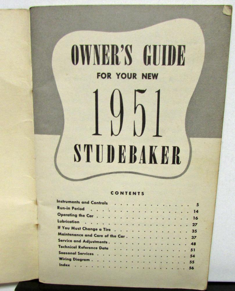 1951 studebaker land cruiser owners manual guide original
