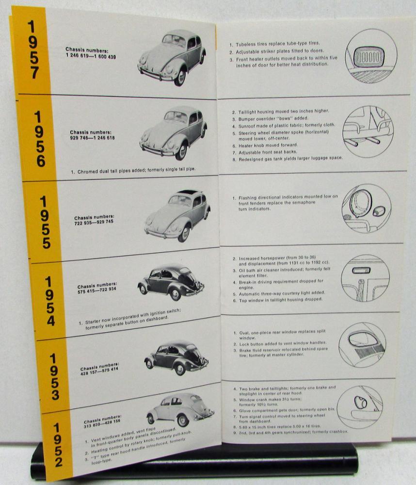 1975 Volkswagen Beetle Dealer Sales Brochure What Year Is It Model ID VW