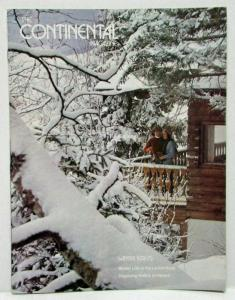 Winter 1974-75 The Continental Magazine Fabulous Interiors In the Continentals