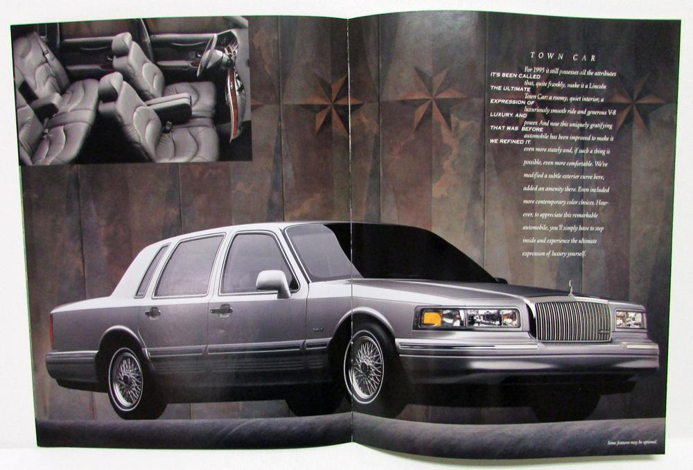1995 lincoln continental mark viii town car sales brochure revised rh autopaper com 1998 Lincoln Town Car 2000 Lincoln Town Car